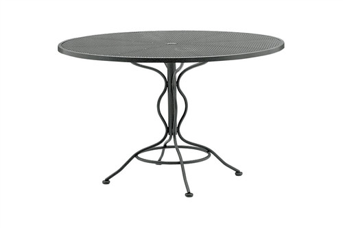 "Woodard Outdoor 48"" Round Umbrella Table 1"