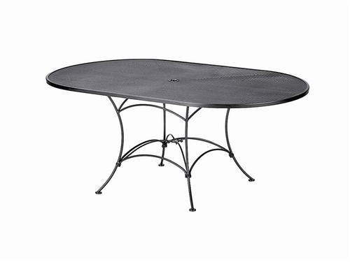 """Woodard Outdoor 42"""" x 72"""" Oval Umbrella Table"""