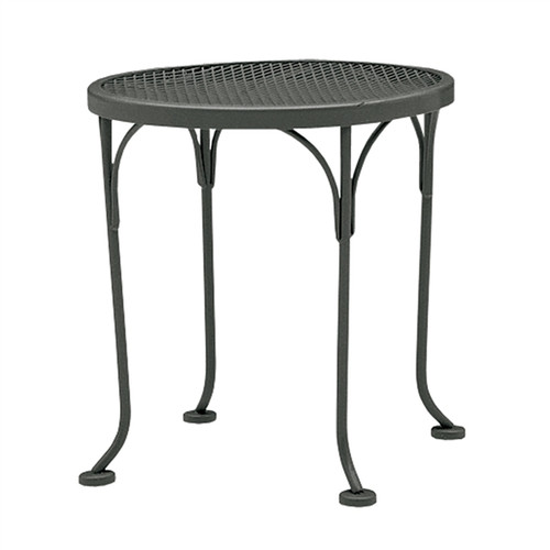 "Woodard Outdoor 17"" Round End Table"