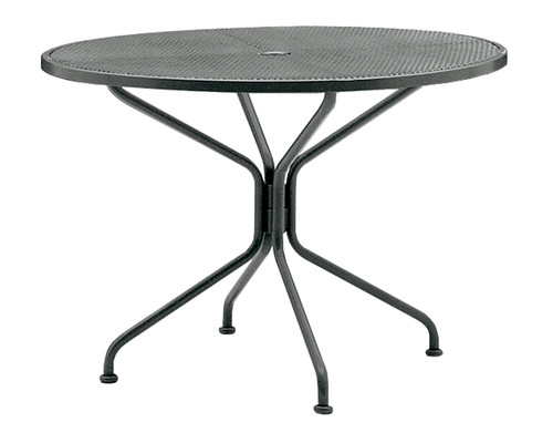 "Woodard Outdoor 48"" Round Umbrella Table 2"