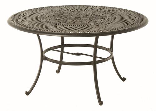 "Hanamint Bella Outdoor 54"" Round Inlaid Lazy Susan Table"