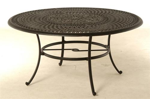 "Hanamint Bella Outdoor 60"" Inlaid Lazy Susan Table"