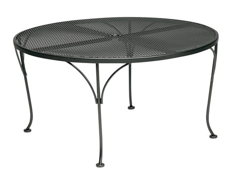 "Woodard Outdoor 42"" Round Umbrella Chat Table"