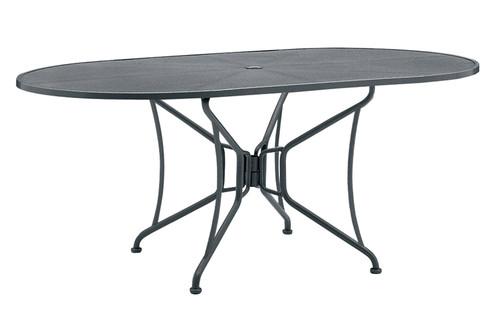 """Woodard Outdoor 42"""" x 72"""" Oval Umbrella Table 1"""