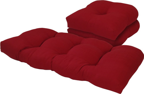 Outdoor Solid Chili Pepper 3 Piece Cushion Set
