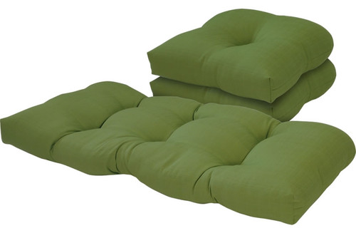 Outdoor Solid Verde 3 Piece Cushion Set