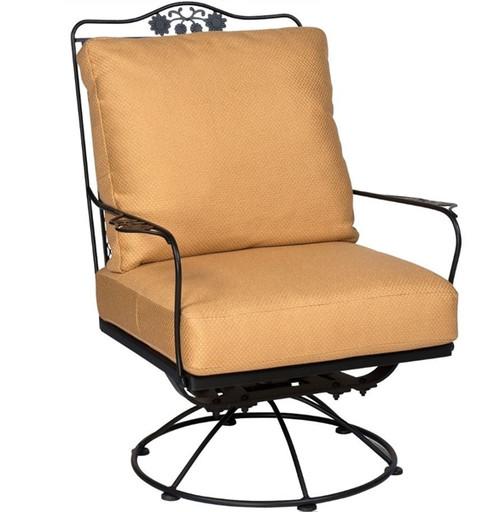 Woodard Briarwood Outdoor Cushioned Swivel Rocking Lounge Chair