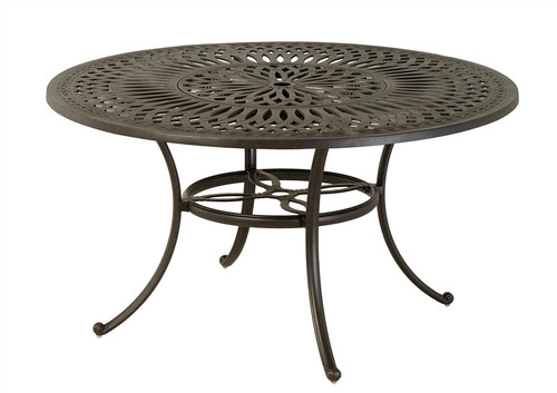 """Hanamint Mayfair Outdoor 54"""" Round Inlaid Lazy Susan Table"""