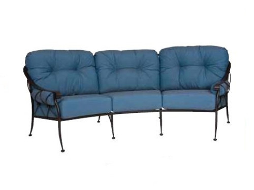 Woodard Derby Outdoor Crescent Sofa w/Cushions & Bolsters
