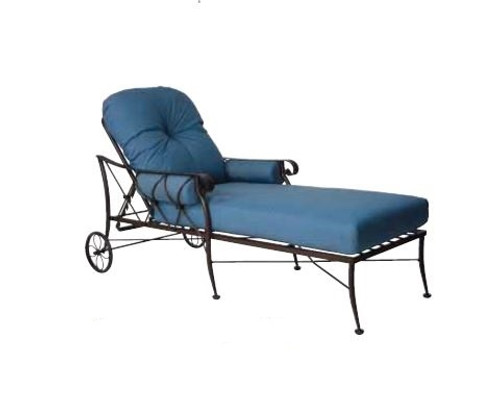 Woodard Derby Outdoor Cushioned Adjustable Chaise Lounge