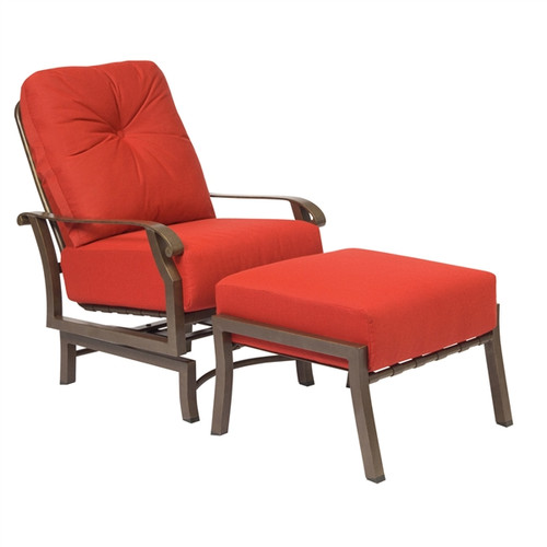Woodard Cortland Outdoor Cushioned Spring Lounge Chair