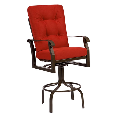 Woodard Cortland Outdoor Cushioned Swivel Bar Stool