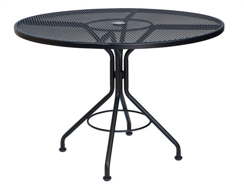 "Woodard Outdoor 42"" Round Umbrella Table 1"