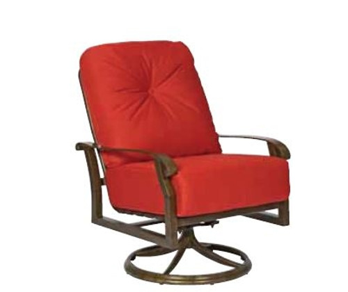 Excellent Woodard Cortland Outdoor Cushioned Extra Large Swivel Rocker Squirreltailoven Fun Painted Chair Ideas Images Squirreltailovenorg