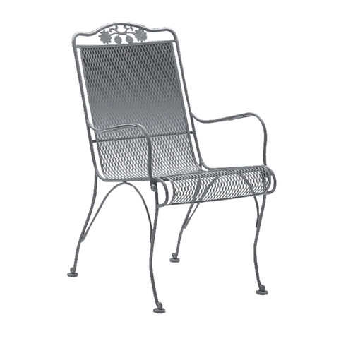 Woodard Briarwood Outdoor High Back Dining Arm Chair