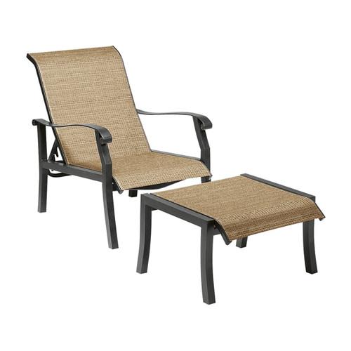 Woodard Cortland Outdoor Sling Adjustable Lounge Chair