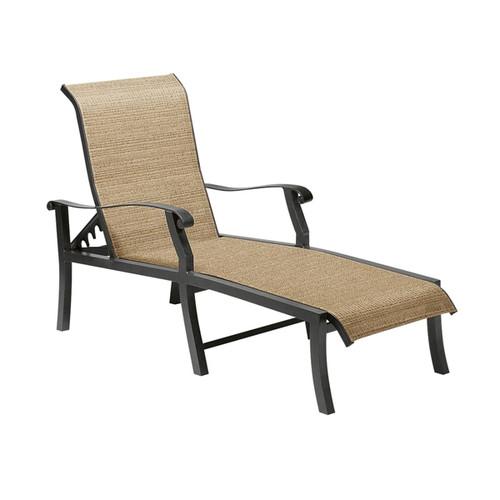 Woodard Cortland Outdoor Sling Adjustable Chaise Lounge