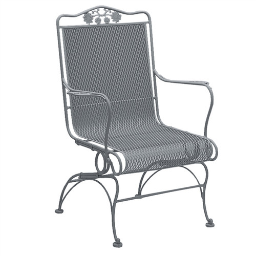 Woodard Briarwood Outdoor High Back Coil Spring Chair