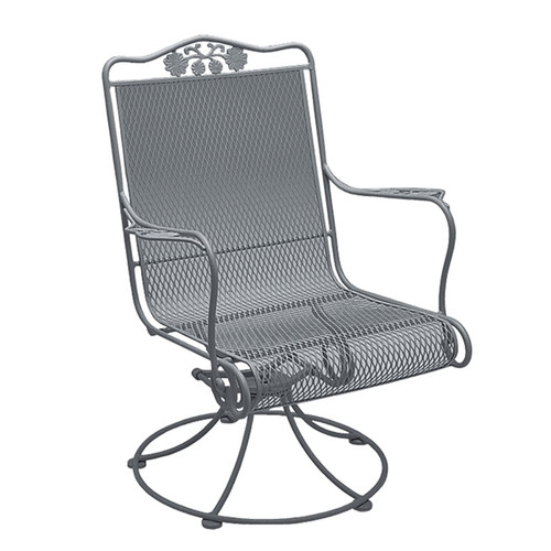 Woodard Briarwood Outdoor High Back Swivel Rocker