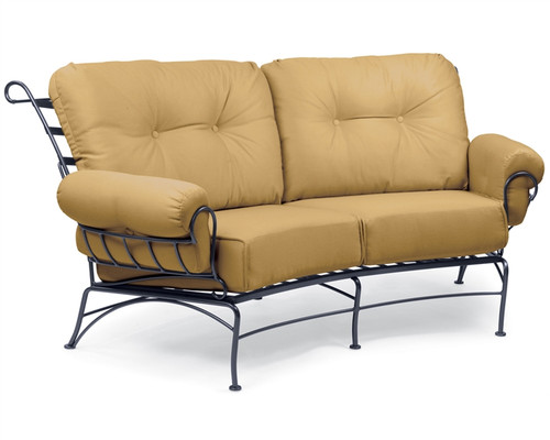 Woodard Terrace Outdoor Cushioned Crescent Loveseat