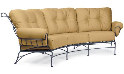Woodard Terrace Outdoor Cushioned Crescent Sofa