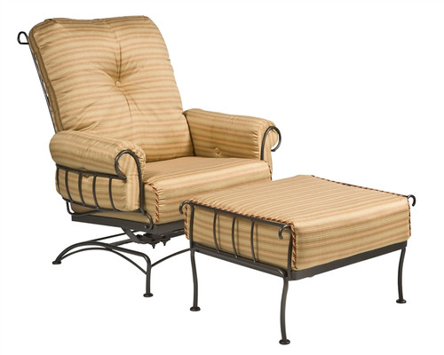 Woodard Terrace Outdoor Cushioned Spring Lounge Chair