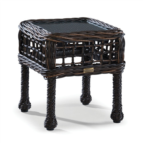 Lane Venture Moraya Bay Outdoor Accent Table w/ Clear Glass Top