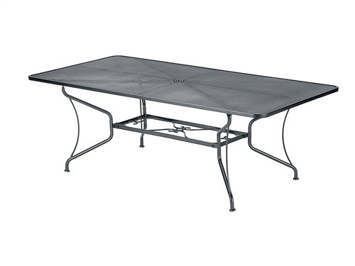 "Woodard Outdoor 42"" x 60"" Rectangle Umbrella Table"