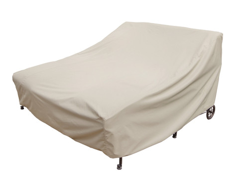 "Treasure Garden 72"" Double Chaise Lounge w/Elastic & 4 Ties Protective Furniture Cover"