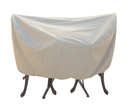 """Treasure Garden 36"""" Bistro/Cafe Table & Chairs w/4 Ties Protective Furniture Cover"""