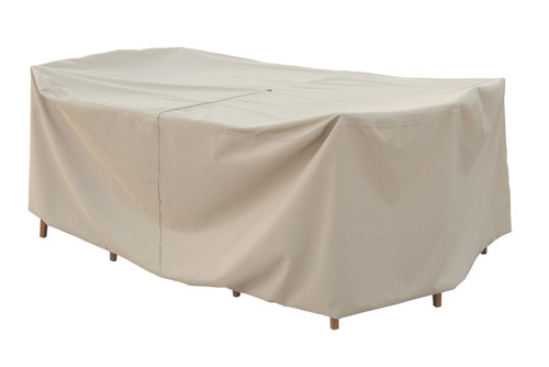 """Treasure Garden 60"""" Small Oval/Rectangle Table & Chairs w/8 ties & Velcro Closure Protective Furniture Cover - w/Umbrella Hole"""