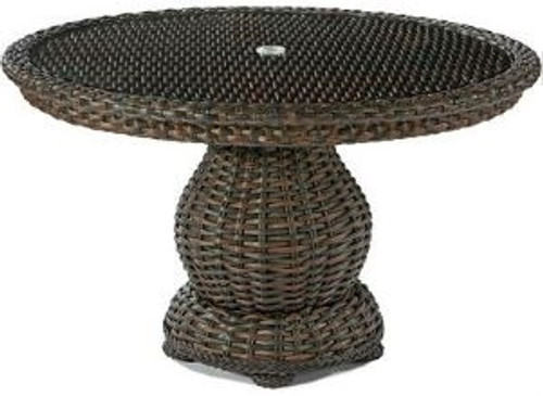 "Lane Venture South Hampton Outdoor 48"" Round Dining Table w/Glass"