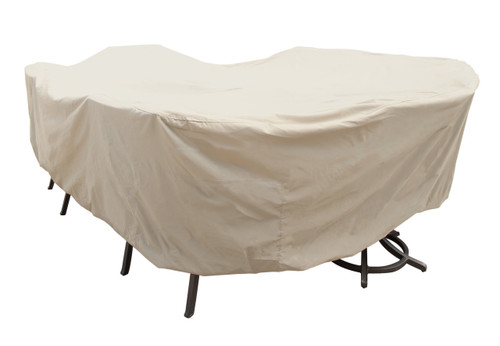 "Treasure Garden 92"" X-Large Oval/Rectangle Table & Chairs w/8 ties Protective Furniture Cover - No Umbrella Hole"