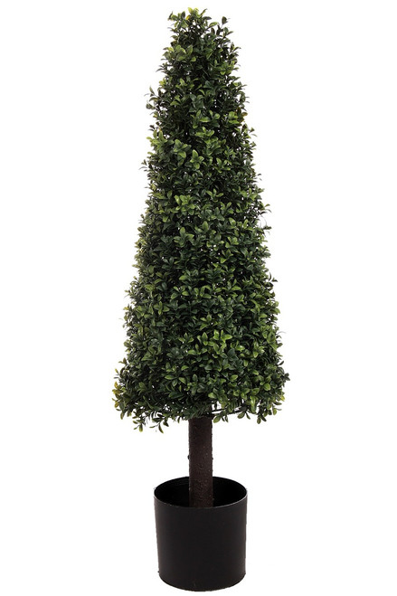 """39"""" Artificial Deluxe Boxwood Cone Topiary"""