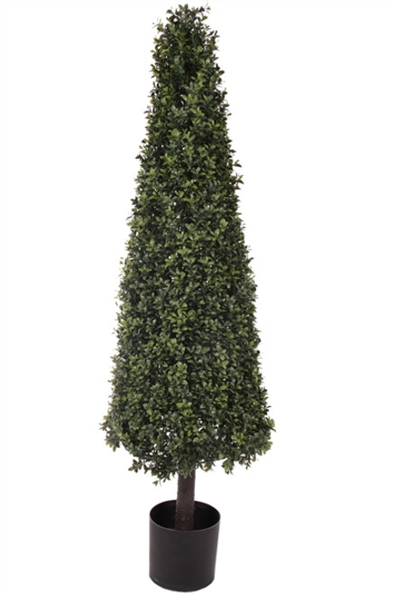 "54"" Artificial Deluxe Boxwood Cone Topiary"