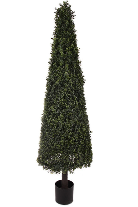 """64"""" Artificial Deluxe Boxwood Cone Topiary"""