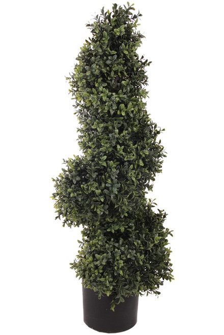 """33"""" Artificial Deluxe Boxwood Spiral Topiary"""