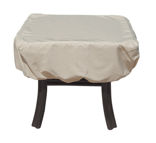 """Treasure Garden 27"""" Square or Round Occasional Table w/Elastic Protective Furniture Cover"""