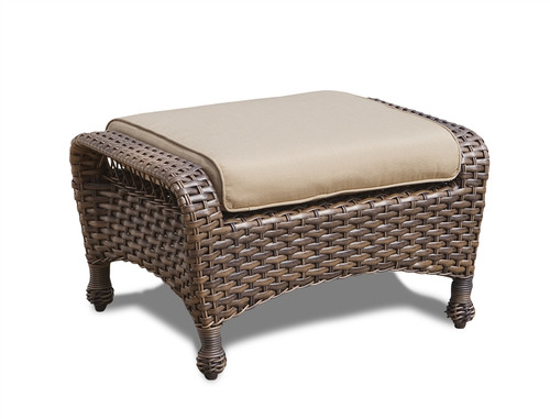 Erwin Bel Air Outdoor Ottoman w/Cushion (Ship time is 4-6 weeks)