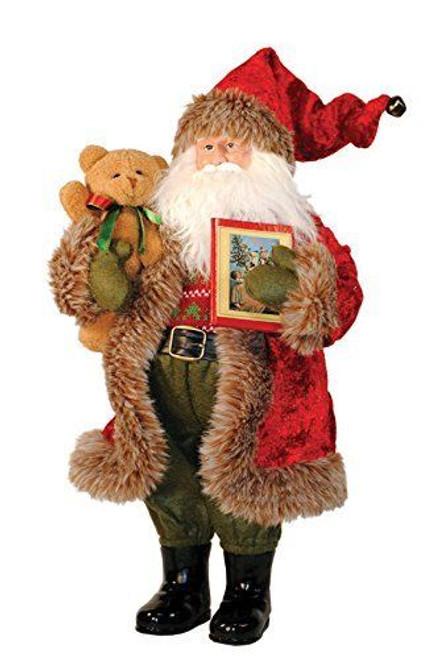 """15"""" Bear and Book Santa"""