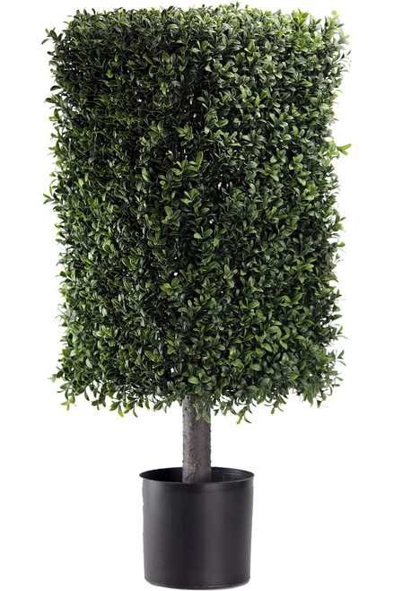 "32"" Artificial Deluxe Square Boxwood Topiary"