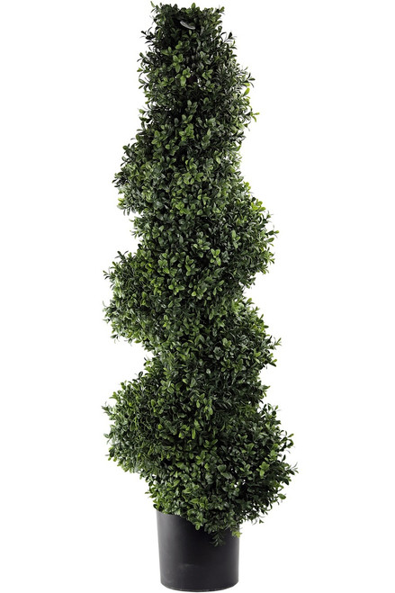 "45"" Artificial Deluxe Spiral Boxwood Topiary"