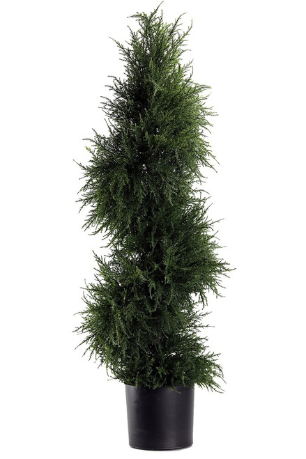 """43"""" Artificial Spiral Cedar Topiary"""