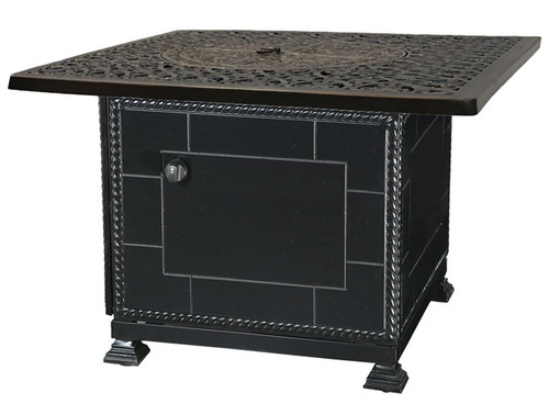 """Gensun Florence Outdoor 42"""" Square Top Gas Fire Pit w/Paradise Base"""