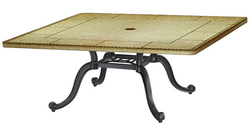 "Gensun Paradise Outdoor 42"" Square Chat Table Top w/Grand Terrace Base"