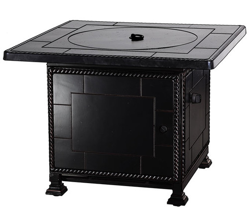 """Gensun Paradise Outdoor 36"""" Square Top Gas Fire Pit w/Paradise Base - Casual Height"""