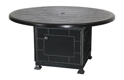 """Gensun Lattice Outdoor 53"""" Round Fire Pit Table Top w/Paradise Base"""