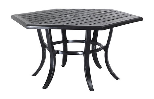 "Gensun Lattice Outdoor 61"" Hexagon Dining Table"