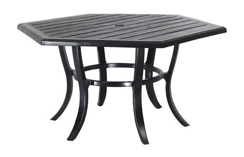 "Gensun Lattice Outdoor 61"" Hexagon Dining Table"