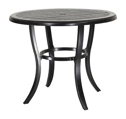 "Gensun Lattice Outdoor 44"" Round Balcony Table"